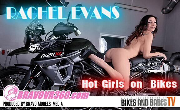 Rachel Evans Naked on her Motorcycle
