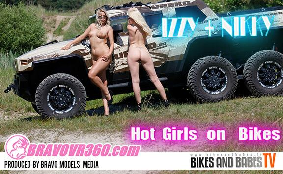Two Hot Girls Strip Together During an Off-Road Trip