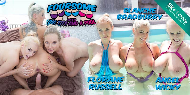 Czech VR 228 - Foursome With Big Tits and a Pool