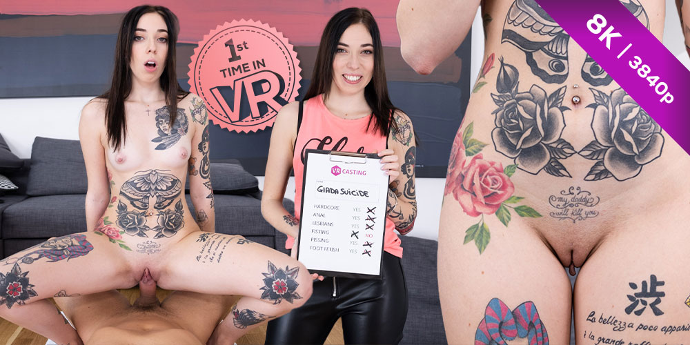 Czech VR Casting 189 Tattooed Italian Slut
