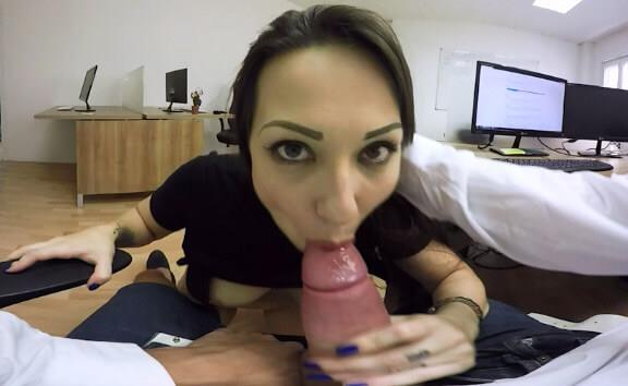 My hot coworker won´t stop teasing me. I fuck her hard at the coffee room - Teen Office Sex