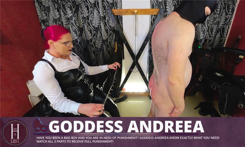 Goddess Andreea - Huge strapon for my 2 slaves