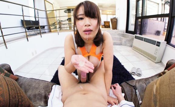 Japanese Nurse Show Her Love to You - Busty Nurse Blowjob
