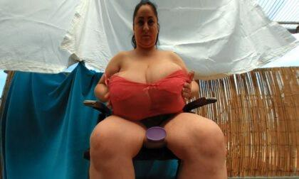 Alice's Big Breasts Massage on the Balcony