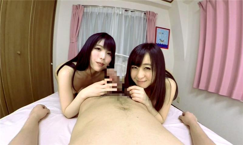 Moa Hoshizora, Akari Aramura – Blowjob with Stepsisters Who Are Too Cute