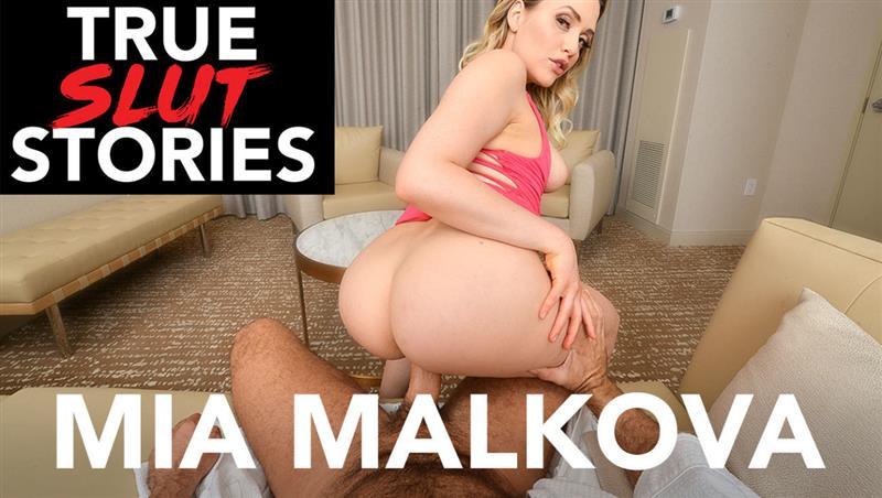 Mia Malkova tells her slutty story then fucks you in VR porn