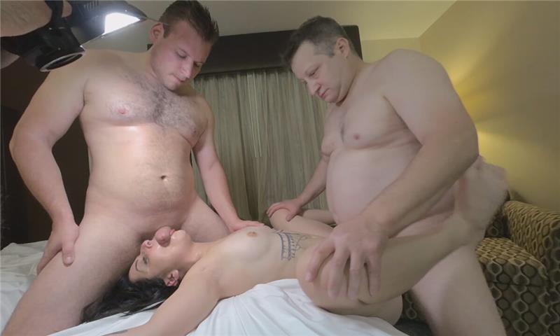 Kaitlyn Katsaros Little GANGBANG with 3 GUYS