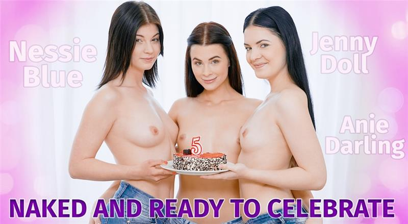 Naked and ready to celebrate