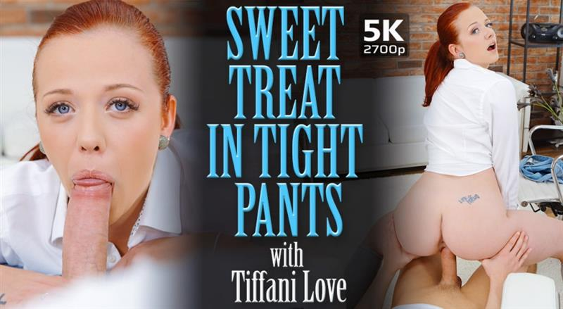 Sweet treat in tight pants