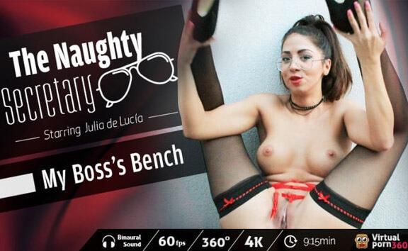 The Naughty Secretary: My Boss's Bench - Fingering Outdoors