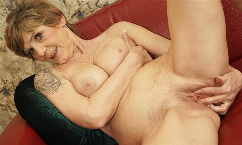 Busty Granny Home Alone
