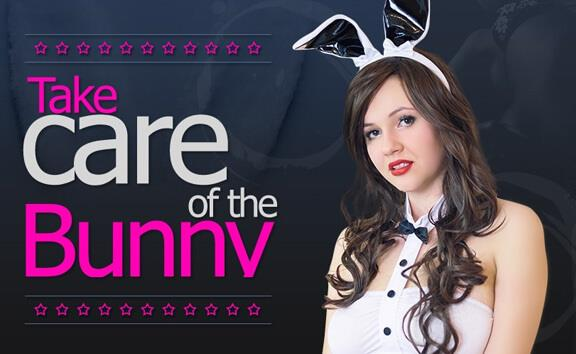 Take Care Of The Bunny - Brunette in Bunny Ears Takes Cock