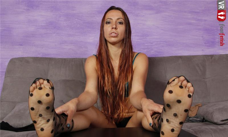 Stunningly Beautiful Elettra Tries On Different Pairs Of Socks And Stockings - Solo Leg Fetish