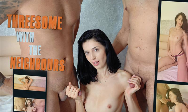 Threesome With The Neighbours - MFM Threesome POV