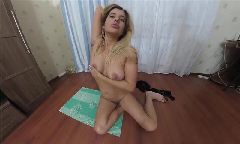 Blonde Milf Kira Does Gymnastics