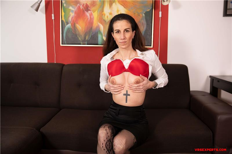 Hot Secretary Strips On The Couch